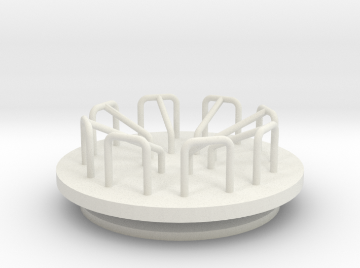 Playground Merry-Go-Round - HO 87:1 Scale 3d printed