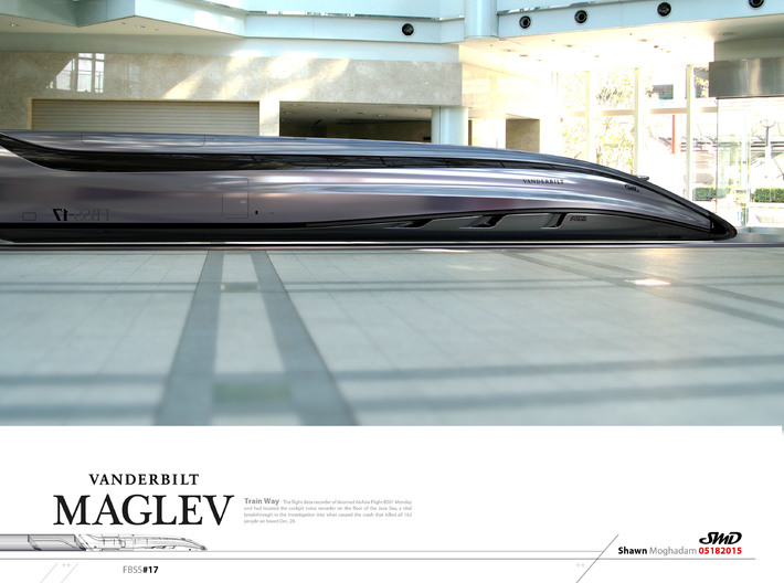 Maglev Train Design - from Concept Design Quest 3d printed
