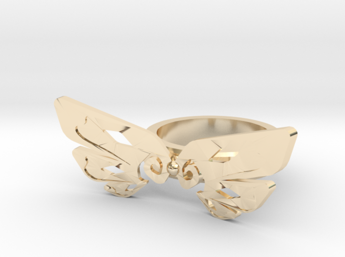 Wing Cute Ring 3d printed