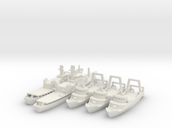 Cod War Set 2 1:700/600 3d printed