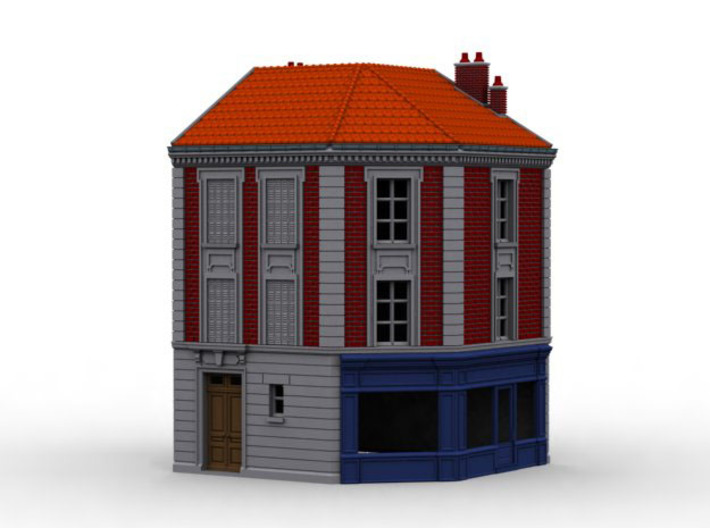 NVIM32 - City buildings 3d printed