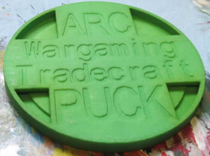 Arc Puck Classic 3d printed Underside of the arc puck
