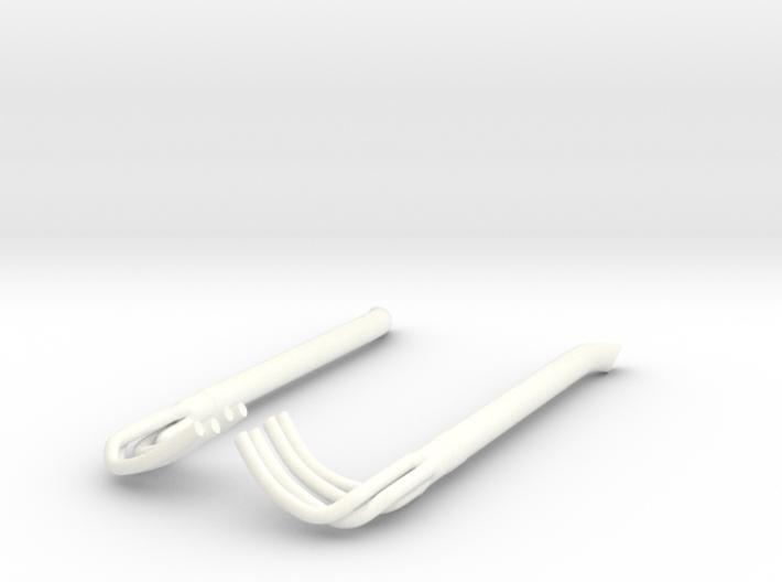 1/12 Racing Side Pipes 3d printed