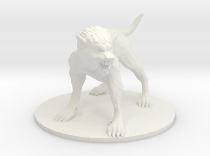 Pathfinder / D&D large werewolf 3d printed
