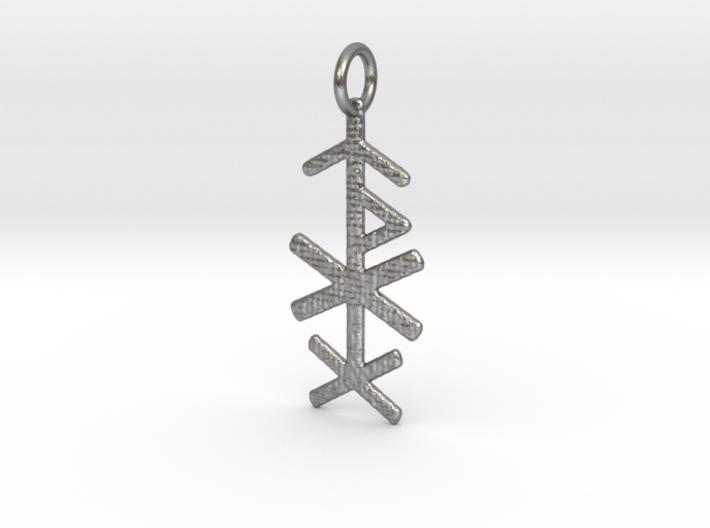 Love Bind Rune Pendant 3d printed