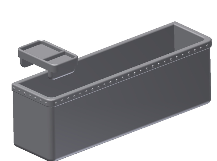 1:6 Scale Map Box & Tray (412 Model) 3d printed