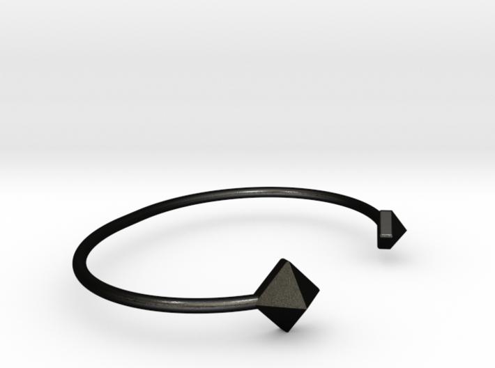 Cuff Bracelet with Geometric Pyramids 3d printed