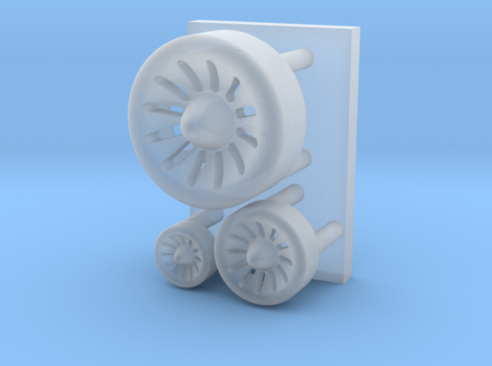 Spaceship engine parts ( enhanced version ) 3d printed