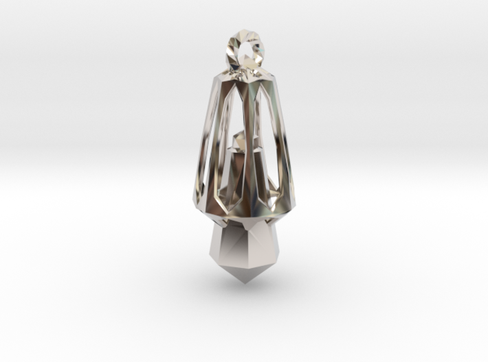 CrystalMind - Metallic Crystal 3d printed