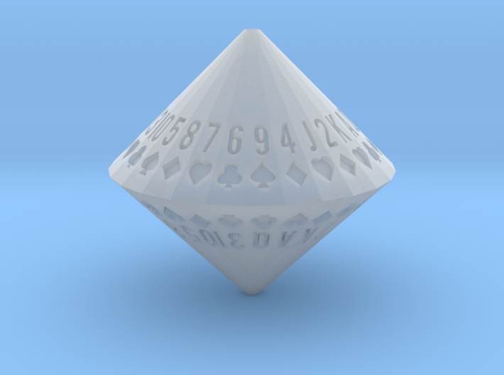 d52 Random Card Generator (frosted) 3d printed