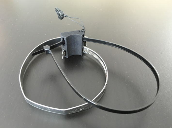 Bar Mount Contour Camera 22mm 3d printed Clamp & cable tie not included =)