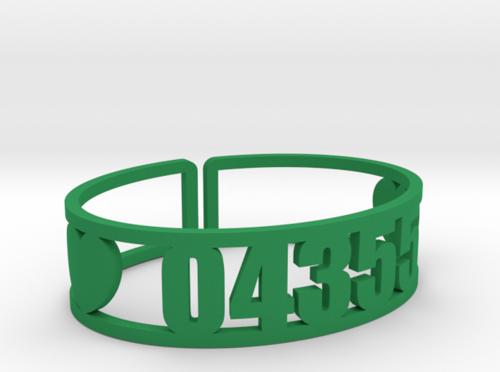 Laurel Zip Cuff 3d printed