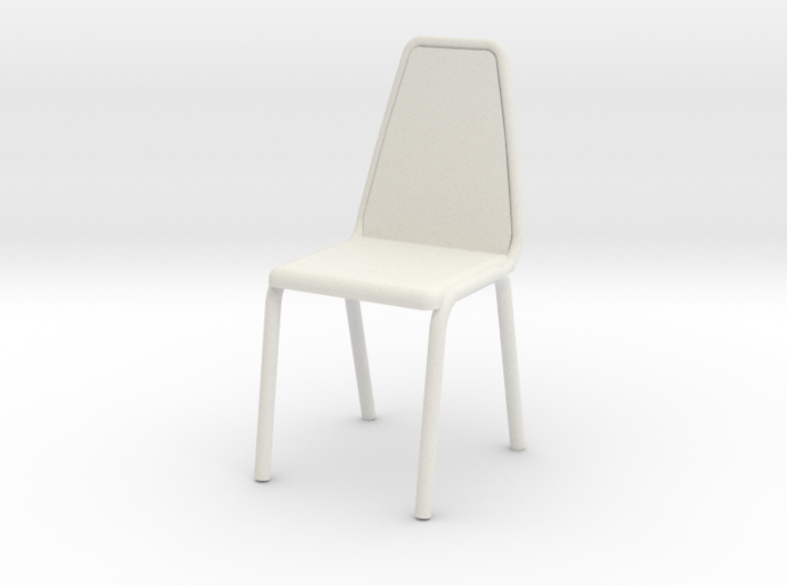1:24 Vinyl Stacking Chair 3d printed