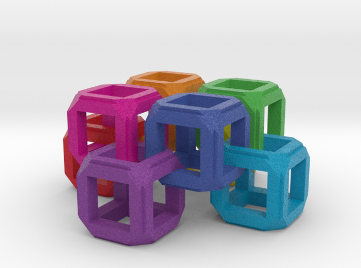 Circle Fixed Link Chain Rainbow Cube 3d printed