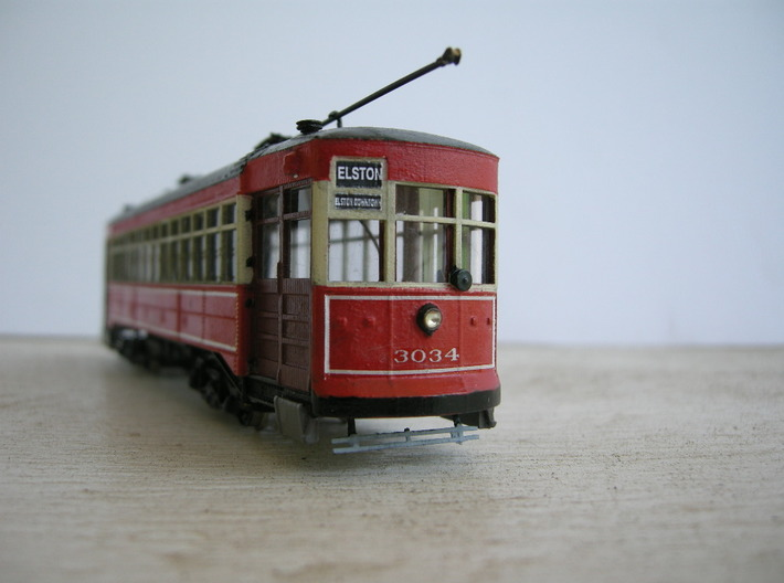 Chicago Car Odd 17 - HO Scale 1:87 3d printed Painted and completed model by Bruce Battles