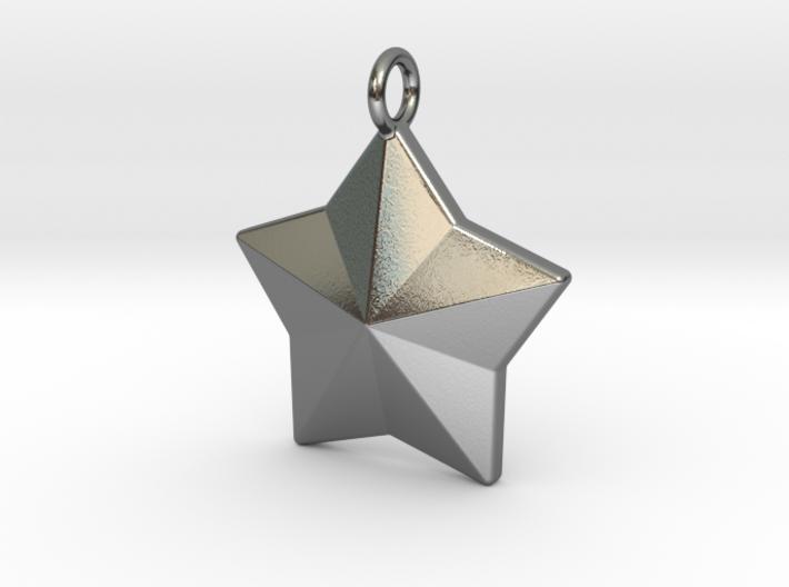 Geometric Star Pendant 3d printed
