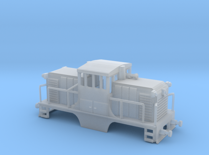 GE44ton HO Scale 3d printed GE 44 ton HO scale