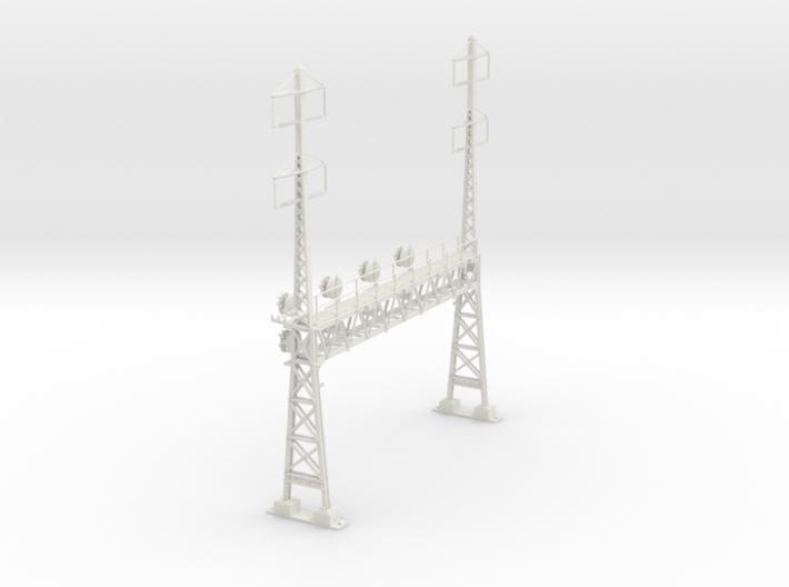 HO Scale PRR W-signal LATTICE 4 Track W 2-2 PHASE 3d printed
