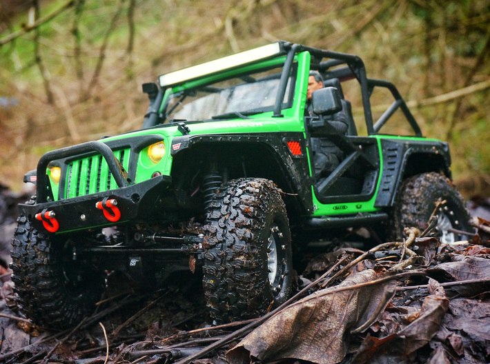 1/10 Scale Jeep front bumper 3d printed