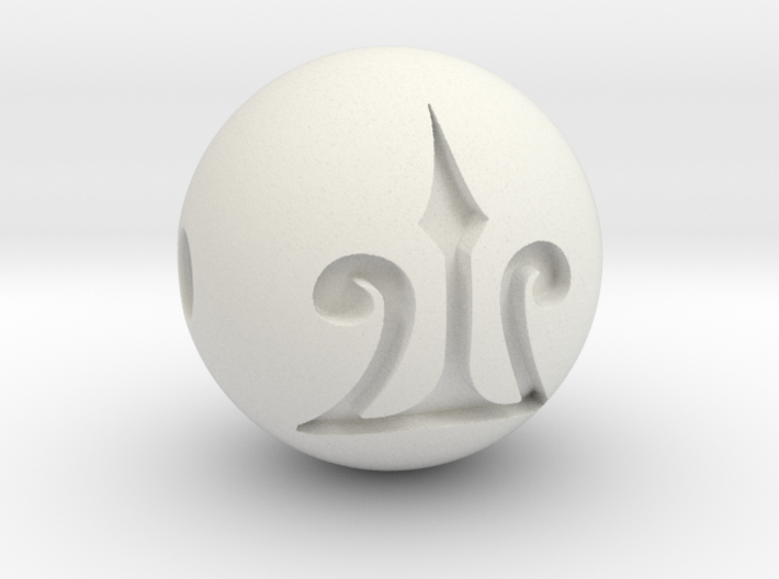 Camp Necklace (1/4) Trident - Percy Jackson 3d printed