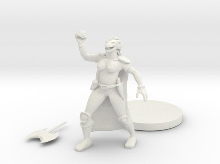 Female Dragonborn Barbarian 3d printed