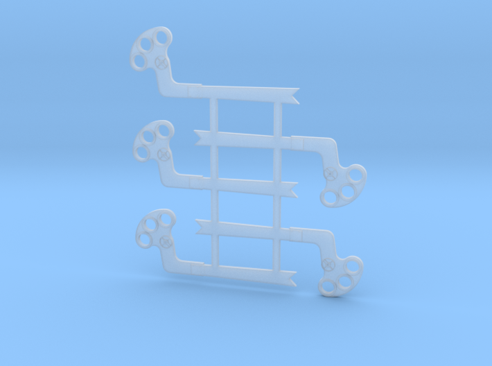 "HO Scale GRS B Semaphore Fishtail 60"" 3d printed"