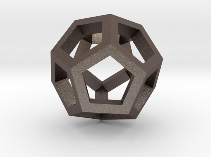 Dodecahedron Pendant 3d printed