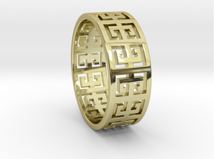 PLINIO Ring 3d printed PLINIO Ring in 18k Gold Plated