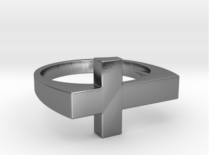 ISIDE Ring 3d printed ISIDE Ring in 925 sterling silver
