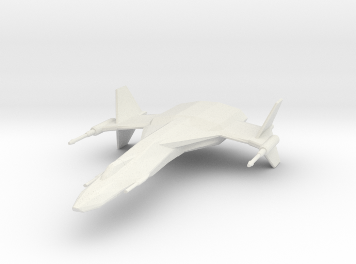 StarHawk Space Fighter Miniature 3d printed