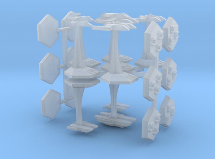 MicroFleet Leerans Carrier Group (21pcs) 3d printed