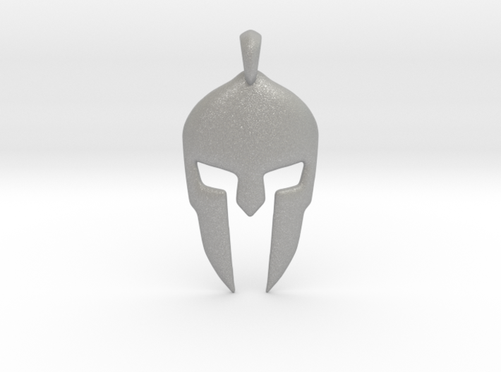 Spartan Helmet Jewelry Pendant 3d printed