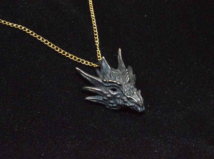Umbral Dragon Pendant 3d printed