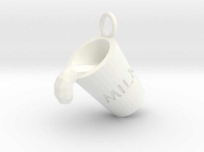 Milk Cup Friendship Pendant 3d printed