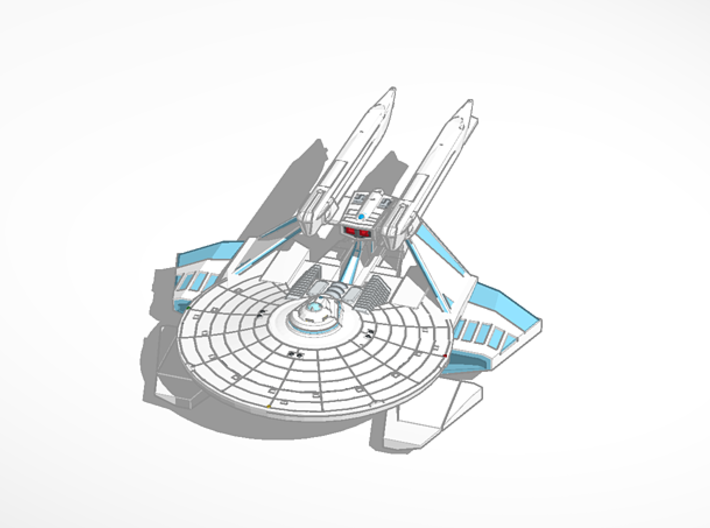 Triton Class 2500 Destroyer 3d printed