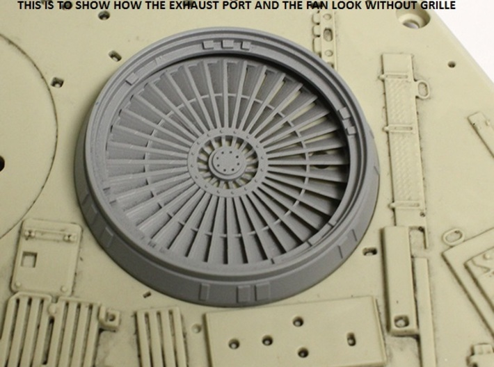 Fan for Exhaust Port for deAgostini Falcon 3d printed