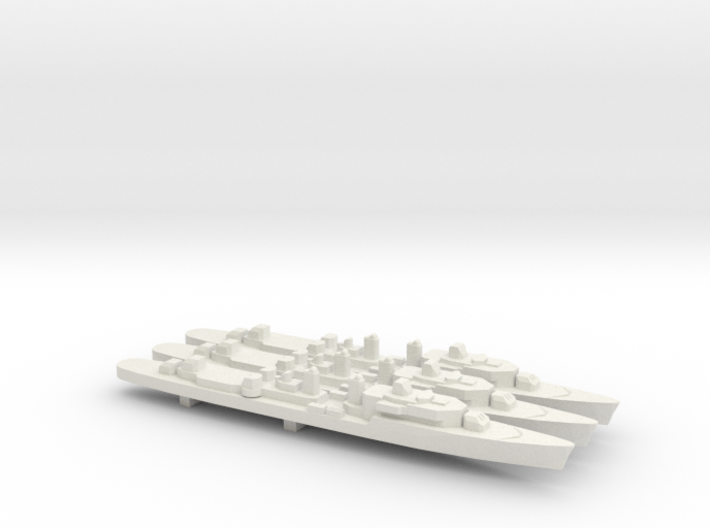 T47 Class Command Destroyer (1962) x 3, 1/1800 3d printed