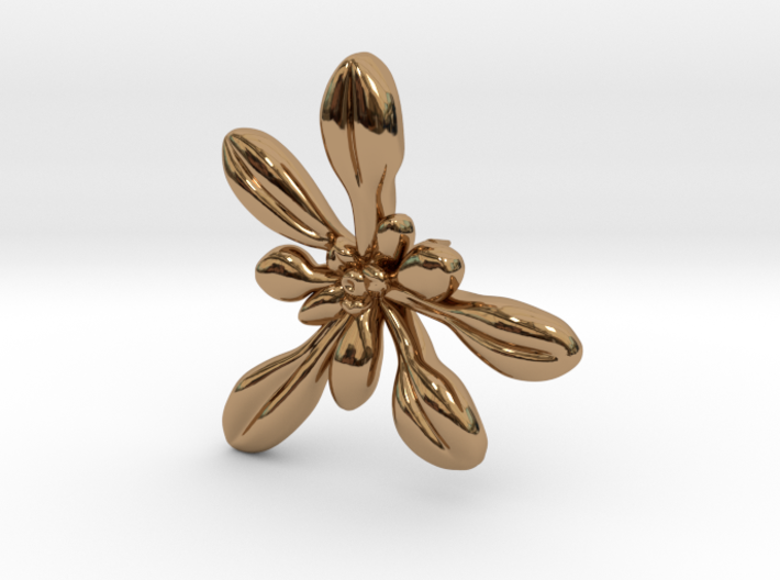 Arabidopsis Lapel Pin -Science Jewelry 3d printed