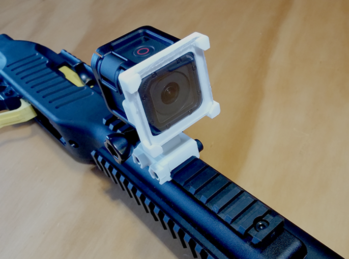 Clip-on GoPro Session Lens Protector Mount 3d printed