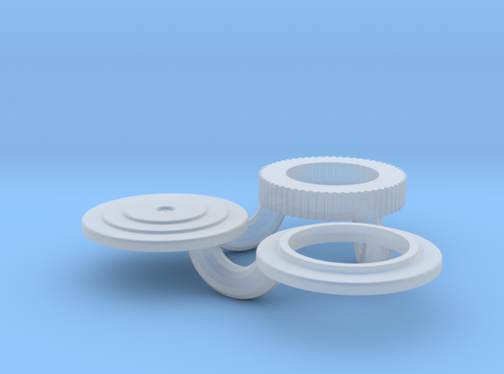 1/32 Small 8 In Round Air Cleaner 3d printed