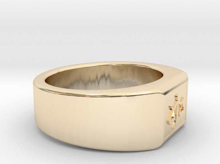 Ø0.707 inch/Ø17.97 mm The Ring of Justice Model B 3d printed