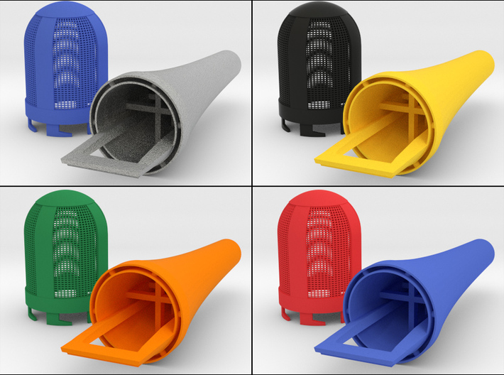 Bottom Part For Handheld Microphone Adapter 3d printed An example of the multi-color possibilities!