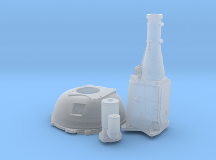 1/25 Ford 427 Side Oiler Bellhousing And Tranny 3d printed