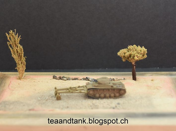 1/144 mine roller set for German Panzer II 3d printed