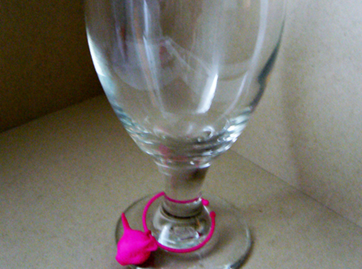 Little Pig Wine Glass Charm 3d printed MWall Click to edit