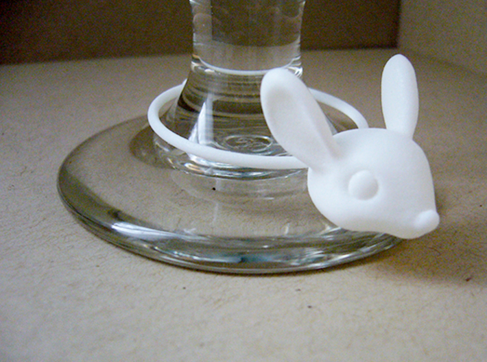Bunny Wine Glass Charm 3d printed bunny wine glass charm