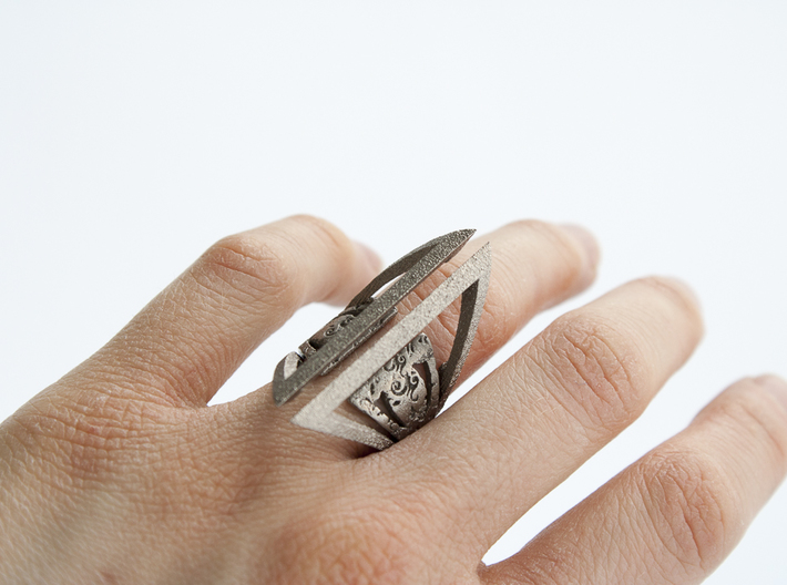 Gothic Outer Ring 3d printed