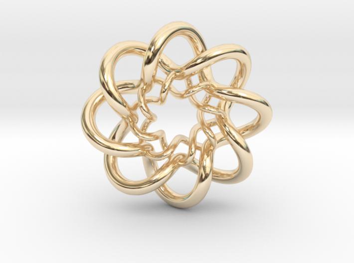 Double Celtic Knot Pendant 3d printed