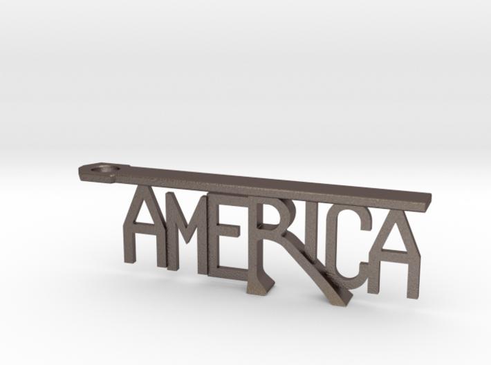 """America"" Bottle Opener Keychain 3d printed"