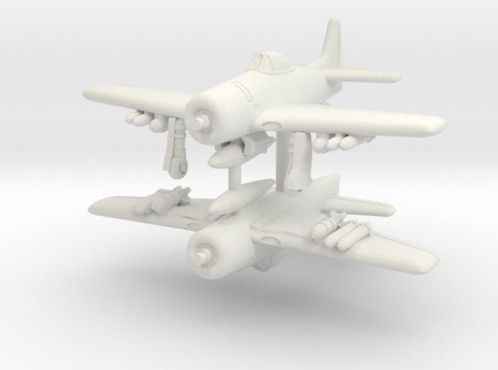 1/350 Grumman F8F-1 Bearcat 3d printed
